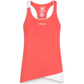 La Sportiva Paige Top sin Mangas Mujer, hibiscus/white